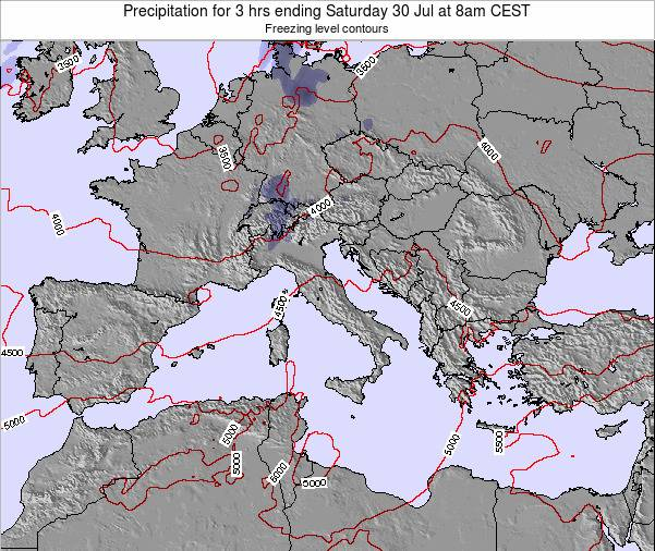 Italy Precipitation for 3 hrs ending Friday 31 May at 2pm CEST