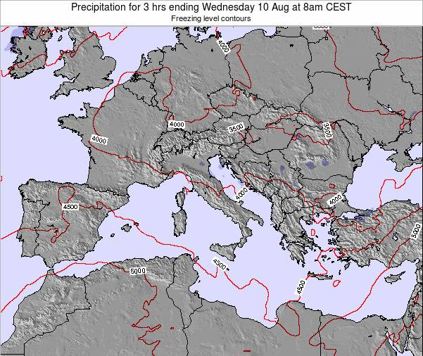 Italy Precipitation for 3 hrs ending Wednesday 30 Apr at 2am CEST