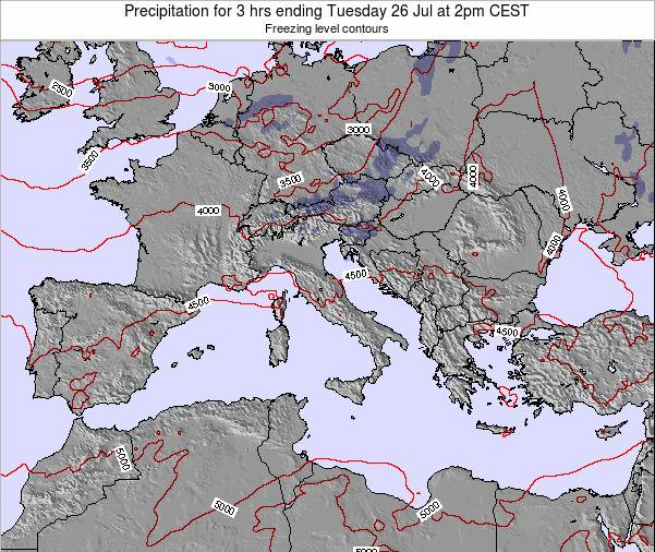 Malta Precipitation for 3 hrs ending Friday 24 May at 8pm CEST