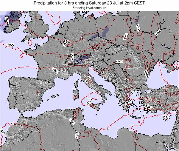 Italy Precipitation for 3 hrs ending Thursday 01 Jun at 8pm CEST