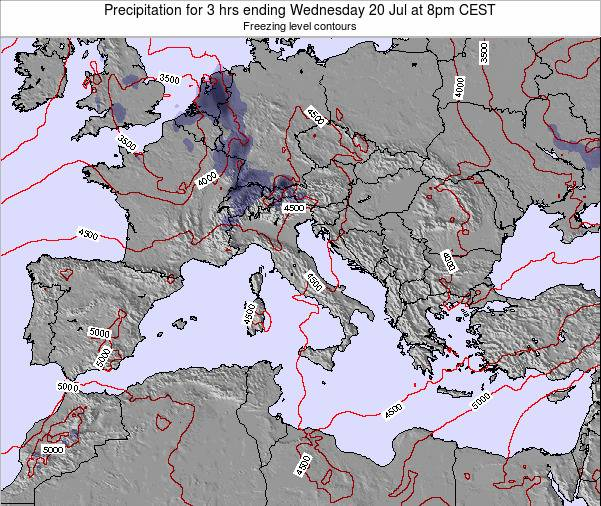Malta Precipitation for 3 hrs ending Tuesday 23 Oct at 2am CEST map