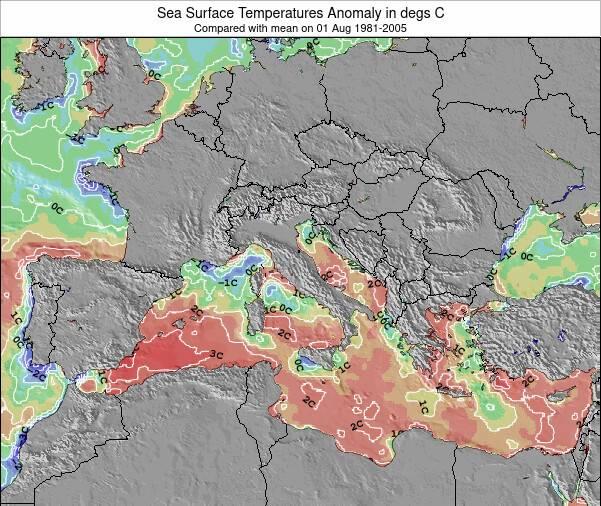 HolySee Sea Temperature Anomaly Map