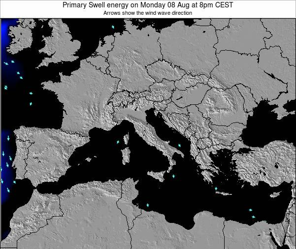 Italy Primary Swell energy on Tuesday 28 May at 2pm CEST