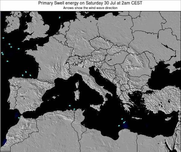 Italy Primary Swell energy on Thursday 31 Jul at 2am CEST