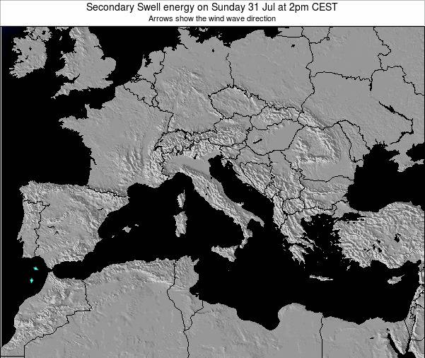 Malta Secondary Swell energy on Sunday 21 Apr at 2am CEST map