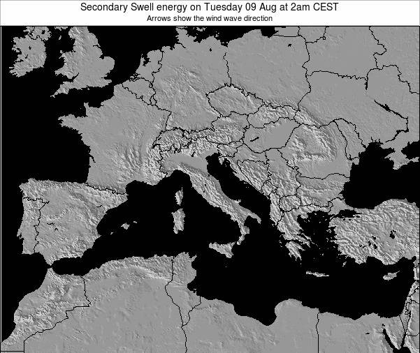 Italy Secondary Swell energy on Saturday 04 Oct at 8pm CEST