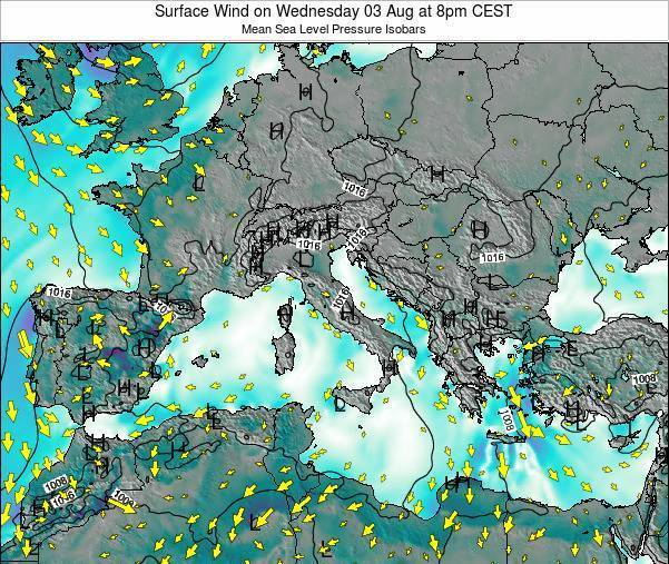 Malta Surface Wind on Sunday 26 May at 2am CEST map