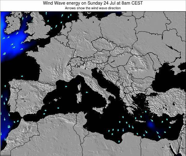 Italy Wind Wave energy on Wednesday 22 May at 2am CEST