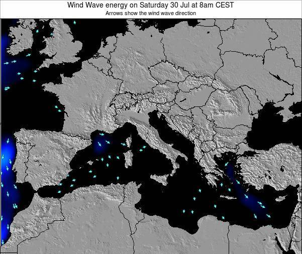 Italy Wind Wave energy on Sunday 26 May at 2am CEST