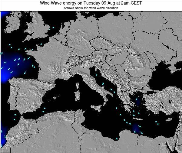 Italy Wind Wave energy on Sunday 23 Jun at 8pm CEST