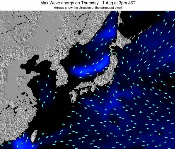 Japan Max Wave energy on Wednesday 22 May at 9pm JST