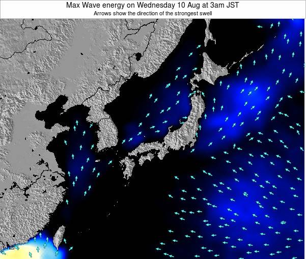 Japan Max Wave energy on Monday 28 Apr at 9am JST