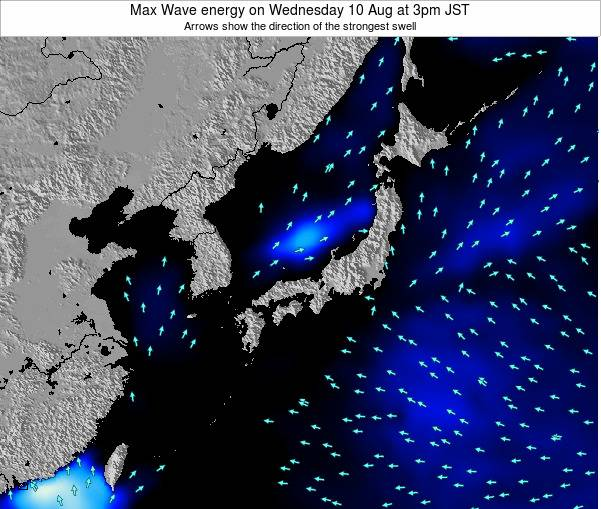 Japan Max Wave energy on Wednesday 23 Apr at 3pm JST
