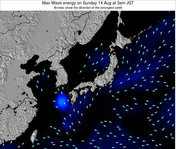 Japan Max Wave energy on Tuesday 28 May at 3am JST