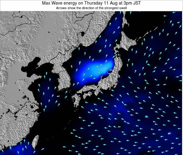 Japan Max Wave energy on Monday 09 Mar at 9am JST