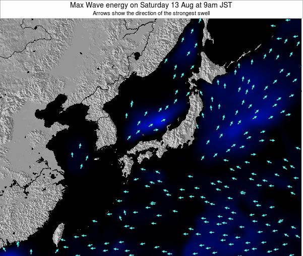 Japan Max Wave energy on Sunday 03 Aug at 3pm JST