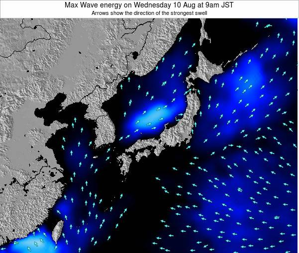 Japan Max Wave energy on Wednesday 29 May at 9pm JST