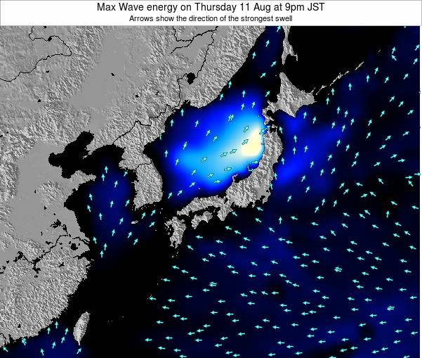 Japan Max Wave energy on Tuesday 28 Oct at 9am JST