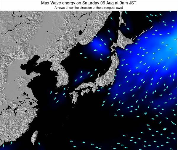 Japan Max Wave energy on Friday 25 Apr at 9pm JST