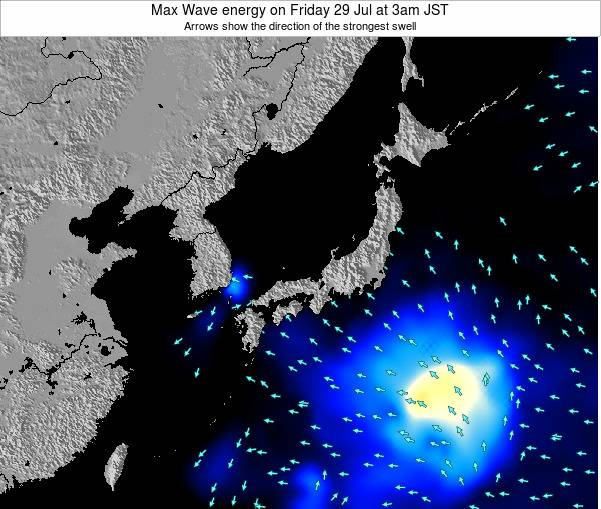 Japan Max Wave energy on Wednesday 30 Jul at 9pm JST
