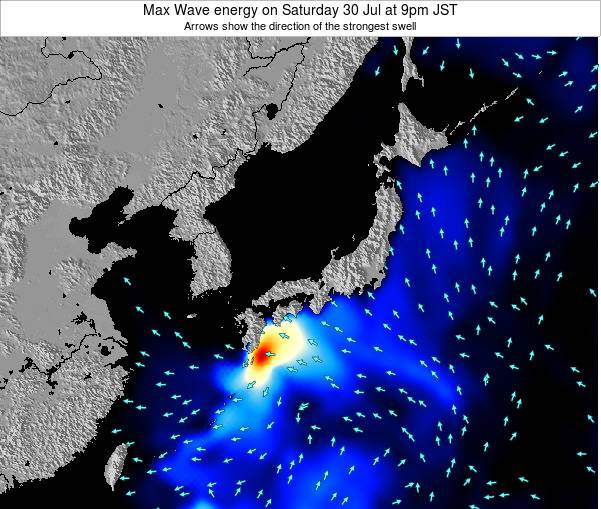 Japan Max Wave energy on Tuesday 25 Jun at 9pm JST