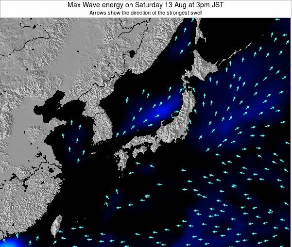Japan Max Wave energy on Tuesday 29 Apr at 3pm JST