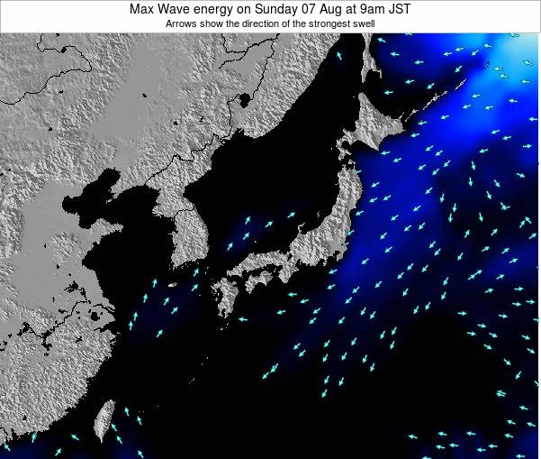 Japan Max Wave energy on Thursday 15 Oct at 3pm JST