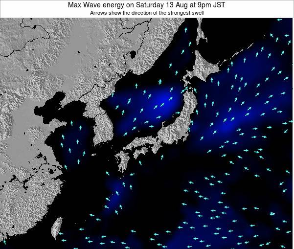 Japan Max Wave energy on Saturday 29 Oct at 3am JST