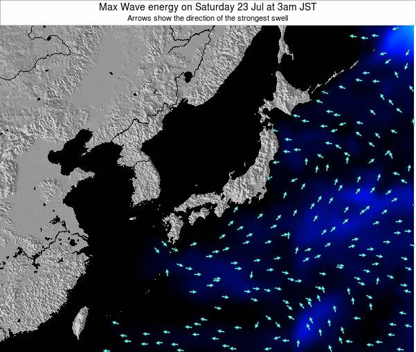Japan Max Wave energy on Thursday 26 Dec at 3am JST