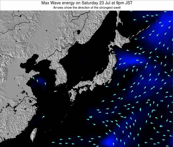 Japan Max Wave energy on Saturday 09 May at 3pm JST