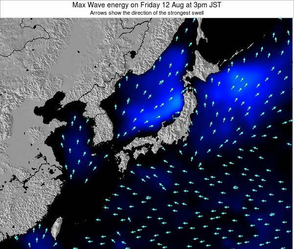 Japan Max Wave energy on Wednesday 30 Apr at 3pm JST