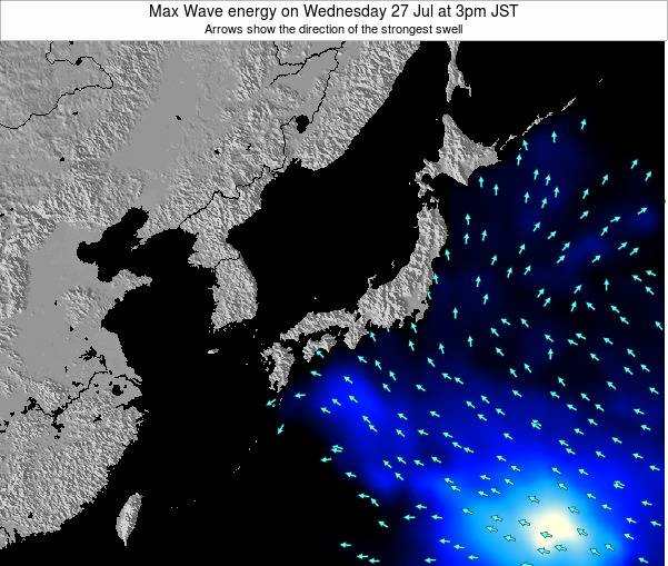 Japan Max Wave energy on Saturday 25 May at 3pm JST