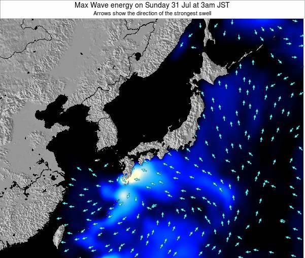 Japan Max Wave energy on Thursday 12 May at 3am JST