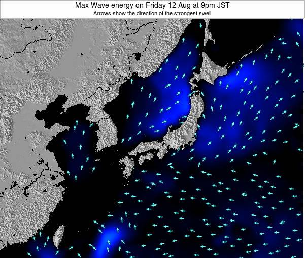 Japan Max Wave energy on Thursday 06 Nov at 3pm JST