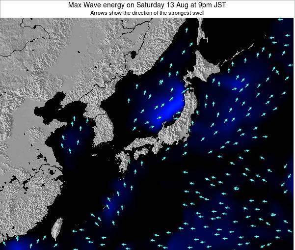 Japan Max Wave energy on Friday 14 Mar at 9pm JST