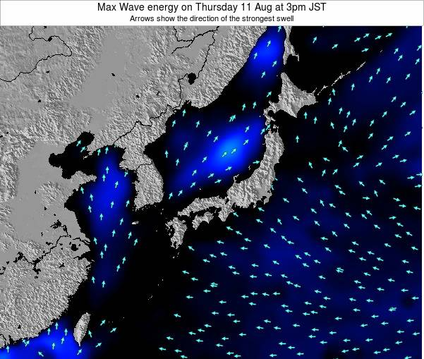Japan Max Wave energy on Tuesday 05 Aug at 3am JST