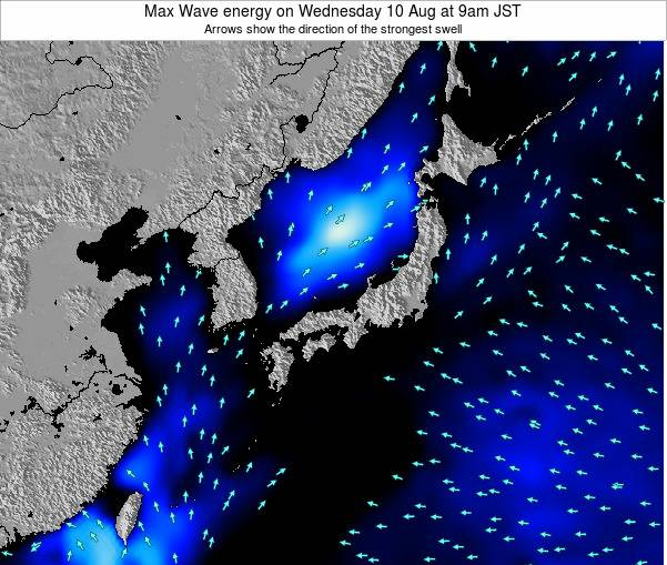 Japan Max Wave energy on Thursday 01 May at 3am JST