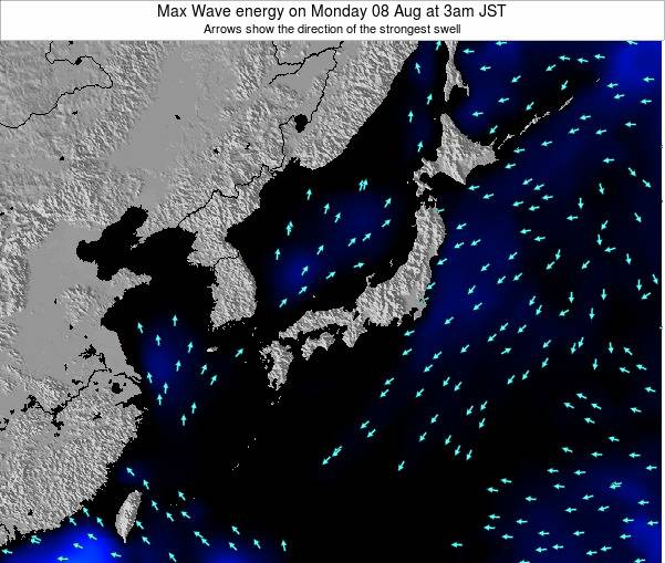 Japan Max Wave energy on Monday 04 May at 3am JST