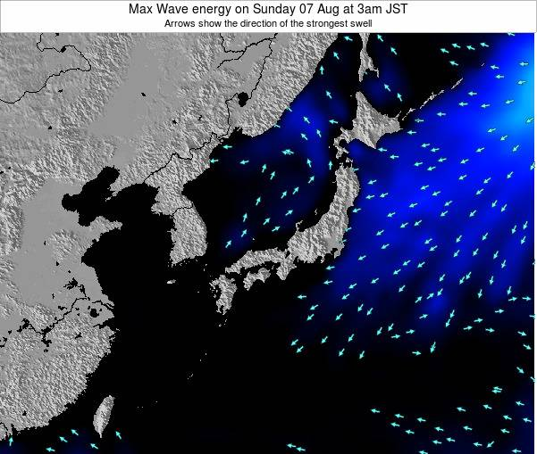 Japan Max Wave energy on Tuesday 22 Apr at 9am JST
