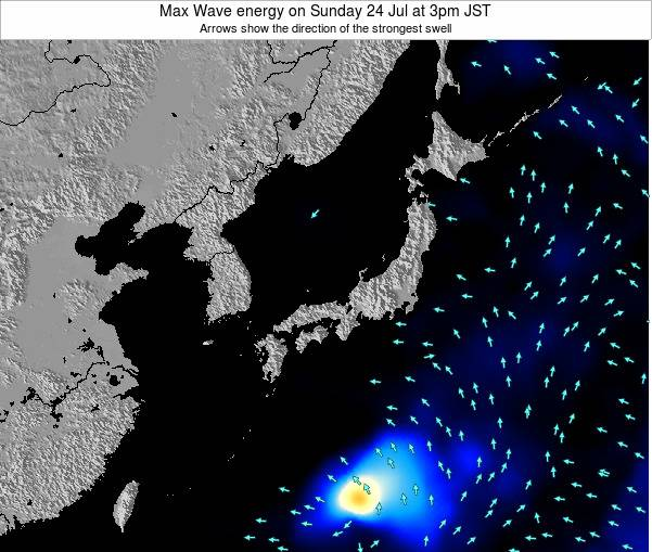 Japan Max Wave energy on Monday 16 Dec at 3pm JST