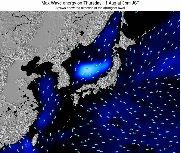 Japan Max Wave energy on Sunday 29 Oct at 9am JST