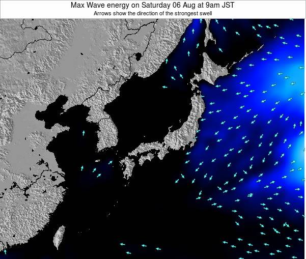 Japan Max Wave energy on Wednesday 23 Apr at 9pm JST