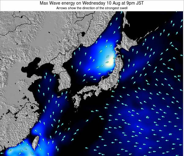 Japan Max Wave energy on Thursday 29 Jun at 9pm JST