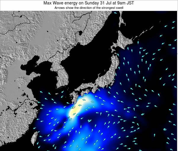 Japan Max Wave energy on Wednesday 30 May at 3am JST map