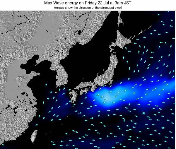 Japan Max Wave energy on Tuesday 29 Jul at 3pm JST
