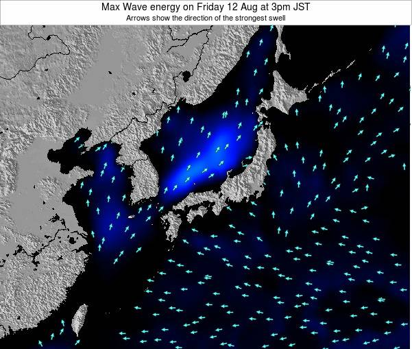 Japan Max Wave energy on Thursday 07 Aug at 9am JST