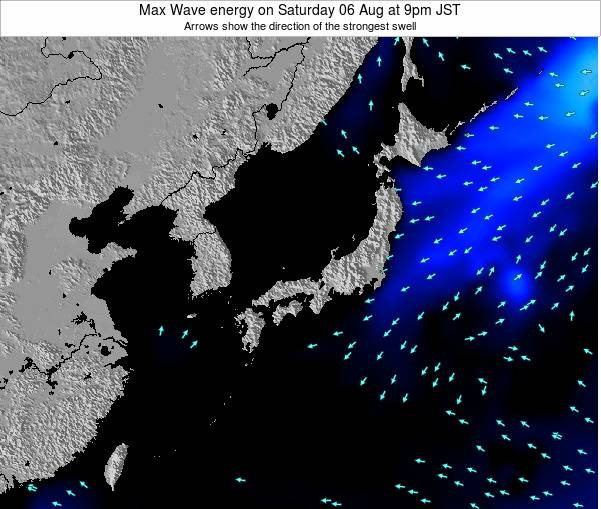 Japan Max Wave energy on Wednesday 22 May at 3pm JST