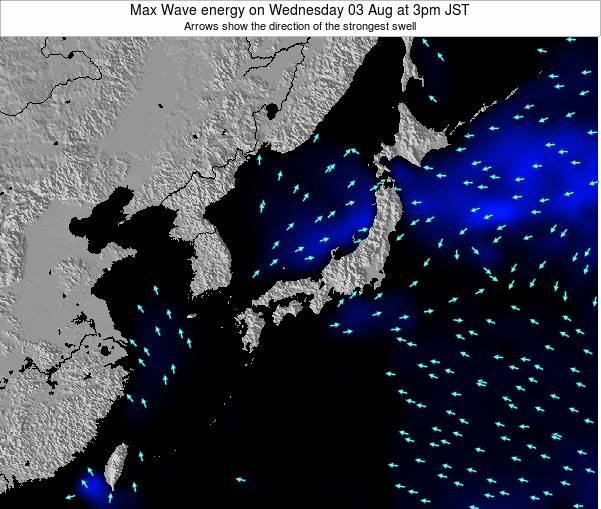 Japan Max Wave energy on Saturday 08 Mar at 3pm JST