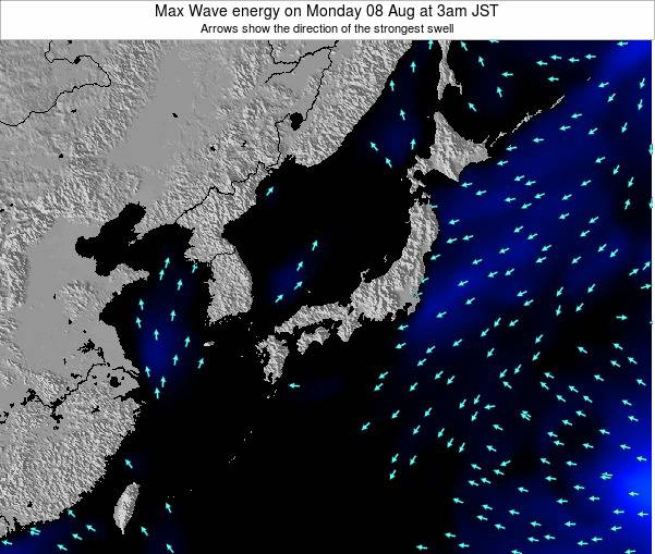 Japan Max Wave energy on Saturday 29 Nov at 9pm JST