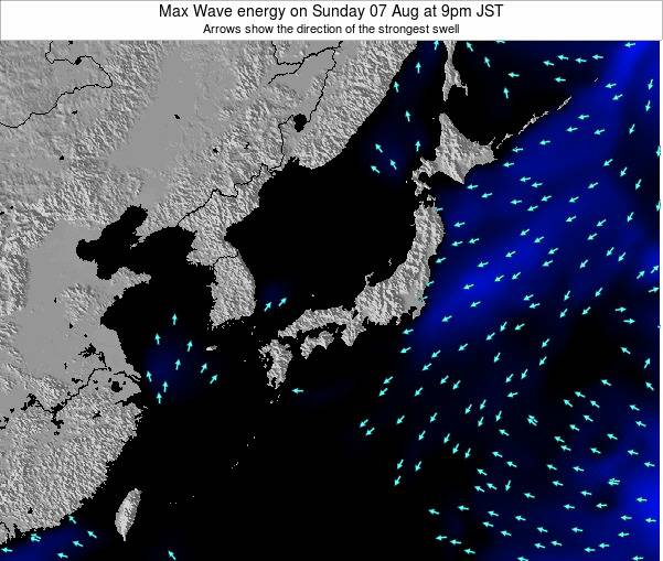 Japan Max Wave energy on Thursday 17 Apr at 3pm JST